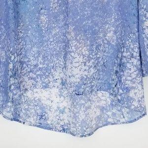Cynthia Rowley Tops - Cynthia Rowley Watercolor Blue Hi / Lo Top Small